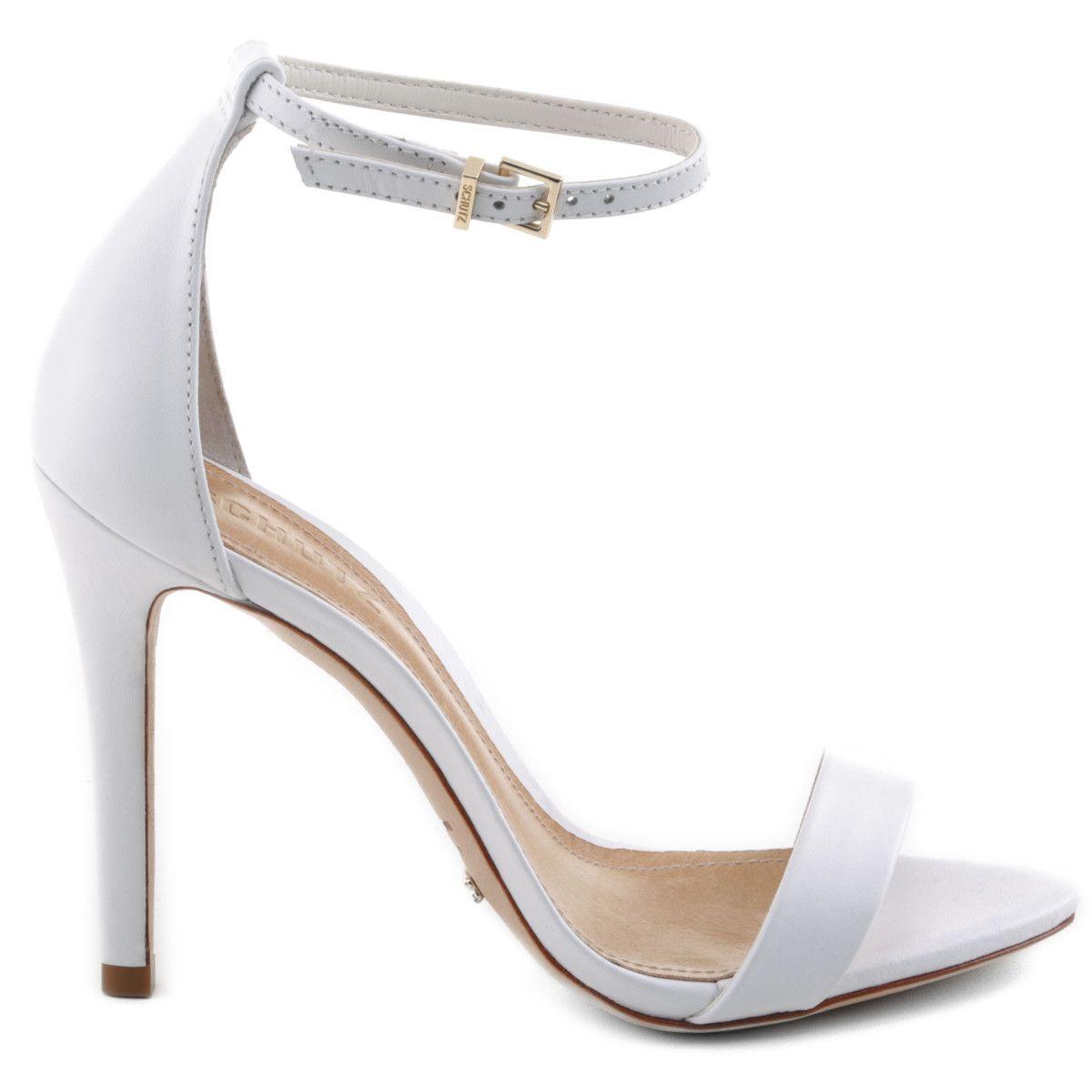 Perfect Schutz Shoes white classy high heel wedding shoes