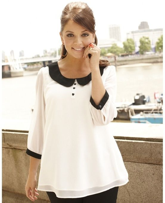 Blusa Peter Pan Collar.