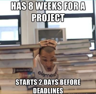 Overstressed Student Has To Meet Project Deadline Student Humor College Humor Humor