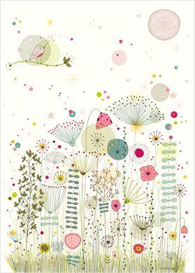 Affiche Thème Fleurs - Nature - Déco Chambre Fille - Amélie ...