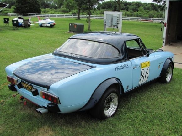 1972 fiat 124 spider csa abarth hardtop vintage race rally car replica for sale rear abarth. Black Bedroom Furniture Sets. Home Design Ideas