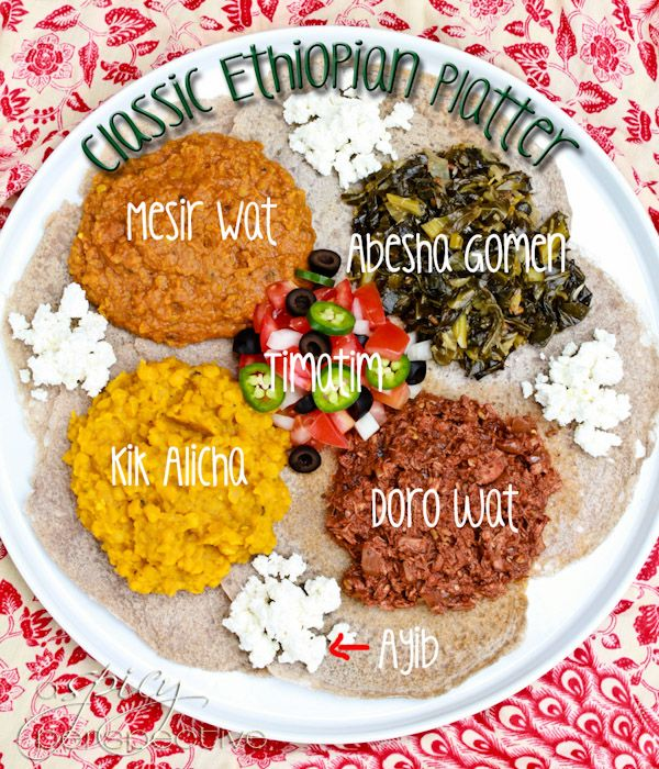 How to Make an Ethiopian Feast by aspicyperspective: Doro Wat- Slow Cooker Spicy Chicken Stew; Injera- Quick Version Flatbread #Ethiopian #Chicken_Stew #Doro_Wat #Flatbread #Injera