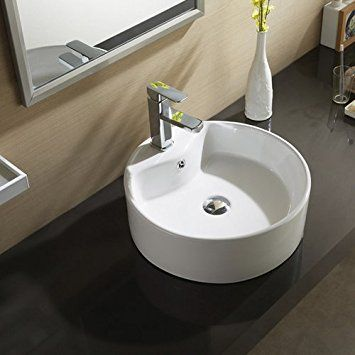 $4978 Waagee Round White Porcelain Ceramic Vessel Sink Bowl Alluring Sink Bowl Bathroom Decorating Inspiration