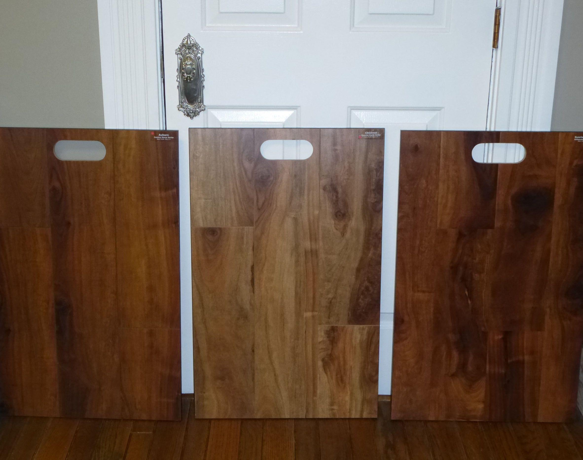 Casa Bella Laminate Flooring Samples Auburn Chestnut And Sunrise Walnut
