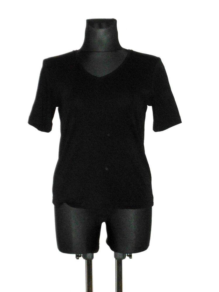 a18bb5d57faa61 Damen ADAGIO Shirt T-Shirt Kurzarm Basicshirt D 42 Schwarz   158 12 ...