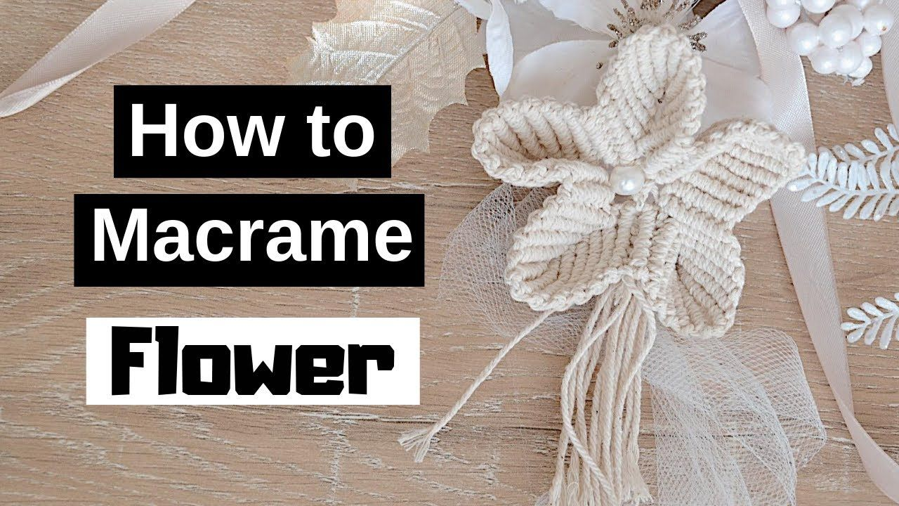 � How to Make a Macrame Flowers with a White Pearl Bead (Part 1 of 2)