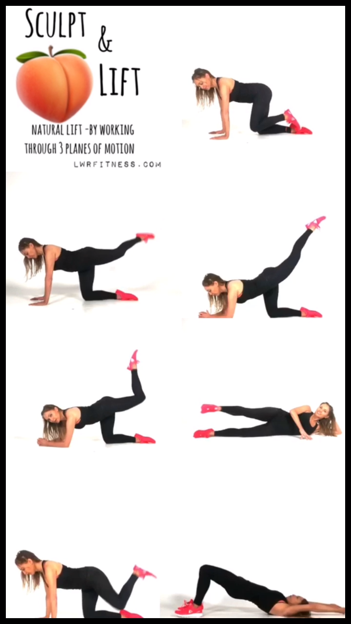 Lower Body Floor Based Workout. This exercise video has 7 toning moves which help to lift your booty...