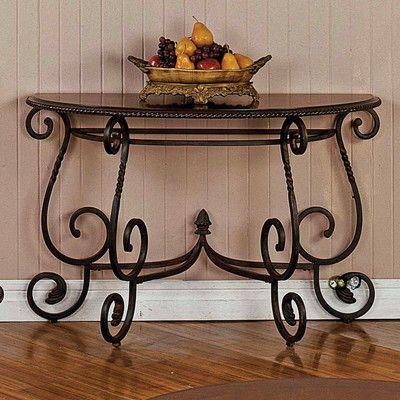 Wrought Iron Sofa Table Love