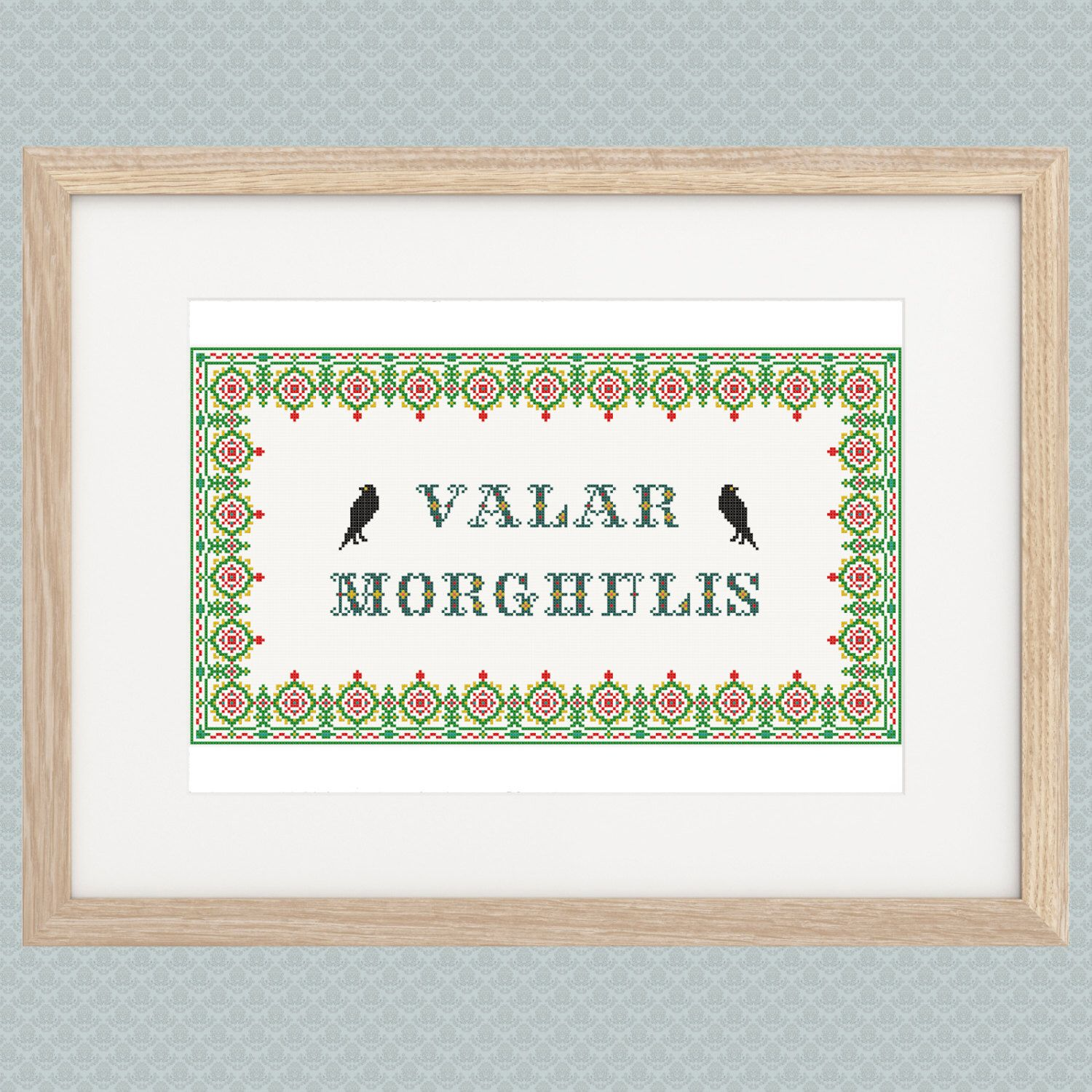 Valar Morghulis Game of Thrones Cross Stitch Pattern by DidisLaboratory on Etsy https://www.etsy.com/listing/208091914/valar-morghulis-game-of-thrones-cross