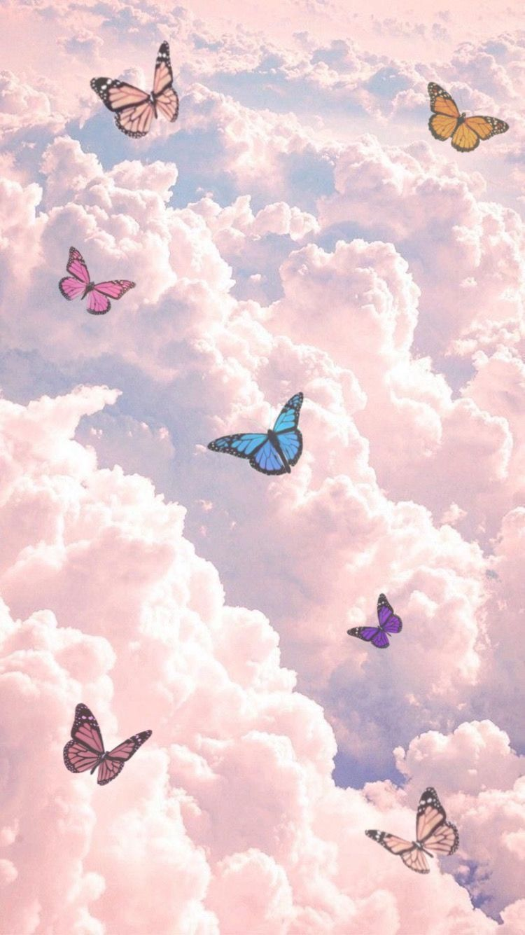 Butterfly Aesthetic Skies In 2020 Butterfly Wallpaper Iphone Cartoon Wallpaper Iphone Iphone Wallpaper Tumblr Aesthetic