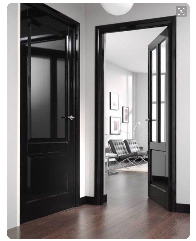 Black Trim And Doors High Gloss Black Interior Doors Doors Interior Home