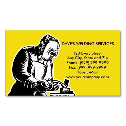 welder welding businesscard business card templates - Welding Business Cards