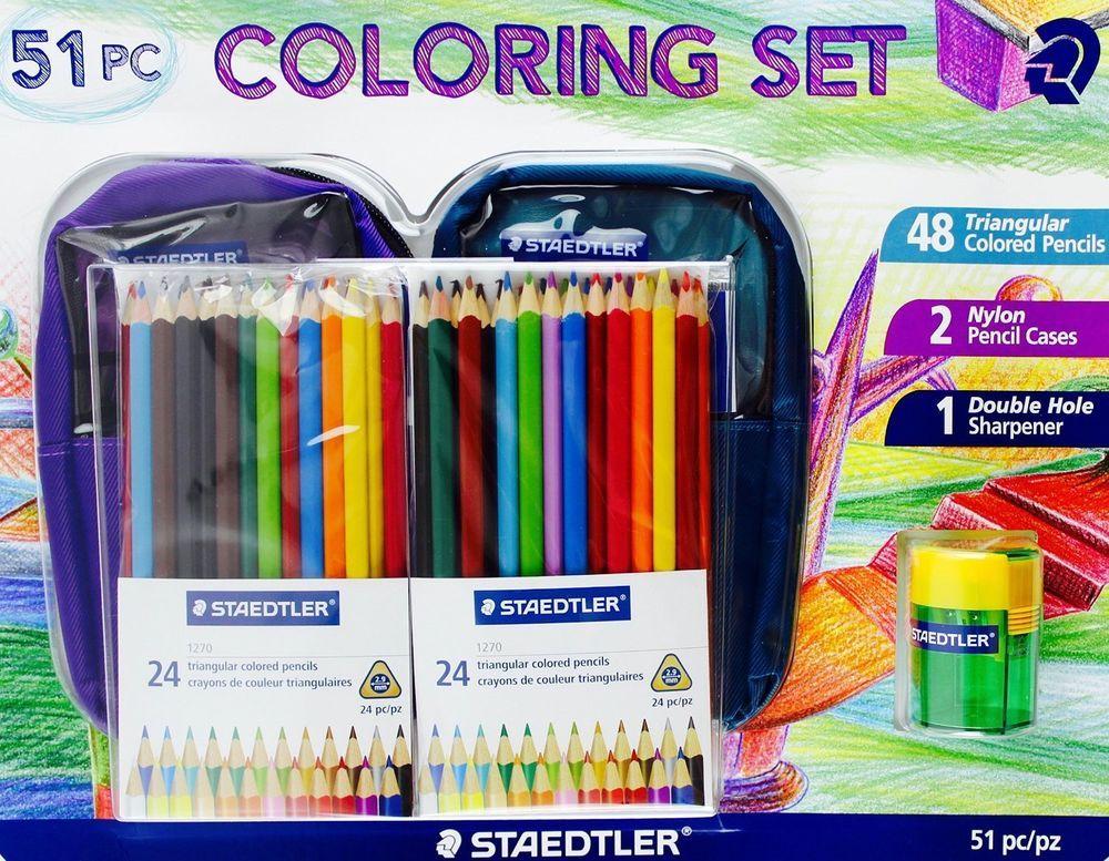 Details about STAEDTLER 51 pc COLORING SET colored pencils ...