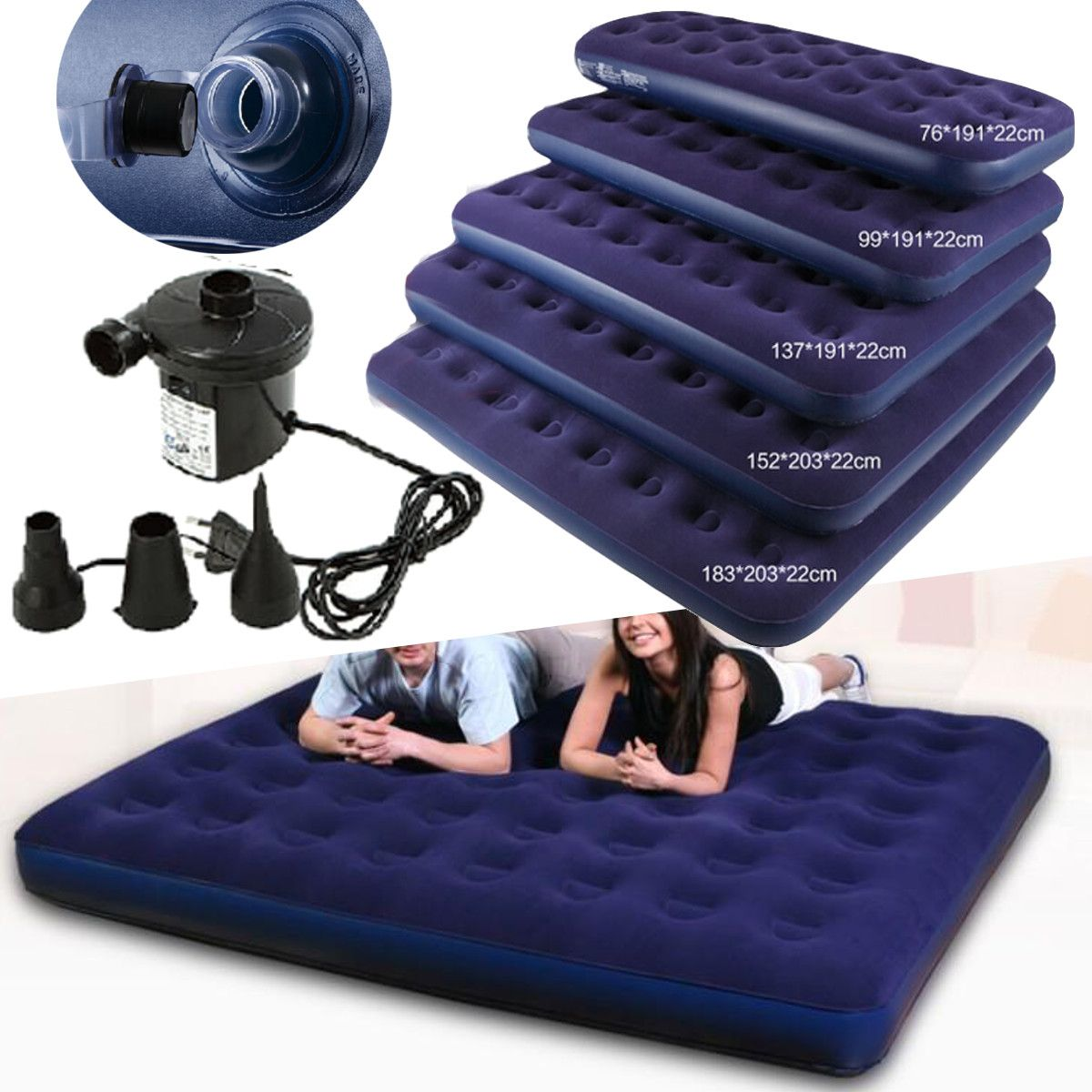 Moaere Inflatable Travel Car Air Bed Sleeping Mattress Couch Sofa Camping Seat Pump Set Air Bed Sleeping Mattress Couch Air Bed Sofa Couch
