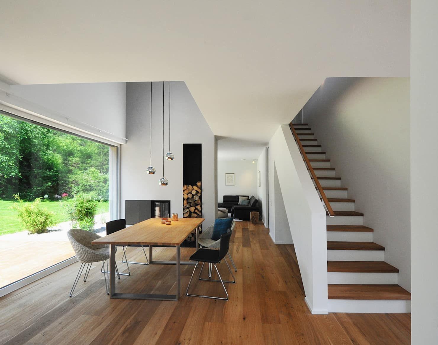Esszimmer mit galerie moderne esszimmer von grimm architekten bda modern #diningroom