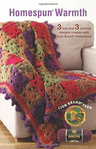 This floral afghan is beautiful and bright. (Lion Brand Yarn) | HOME ...