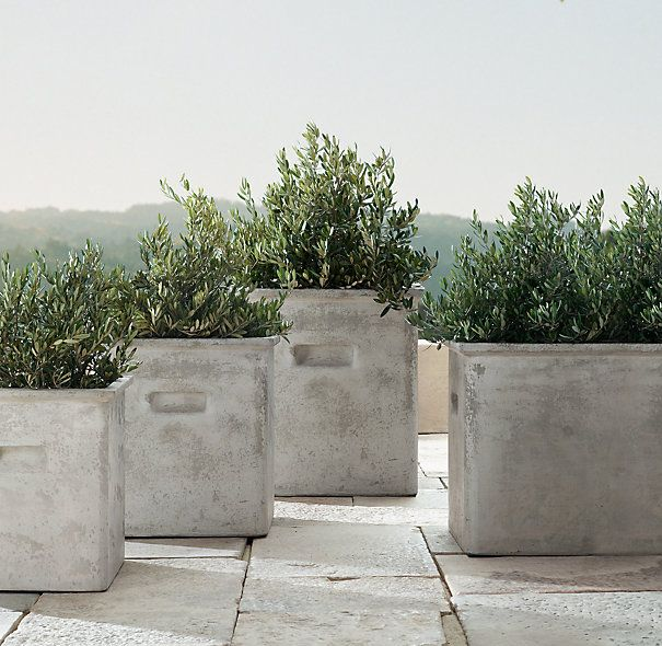 Latour cast concrete planters things pinterest planters concrete and restoration hardware - Casting concrete planters ...
