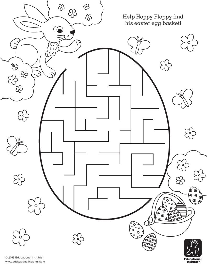 Free Easter Coloring Printables Kinder Easter Printables Malvorlagen Ostern Ostern Kindergarten Labyrinthe Fur Kinder
