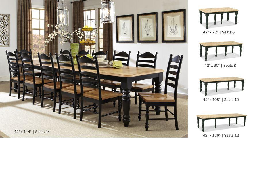 Option 3 Hillside Village Table With Straight Black Legs