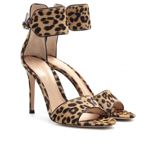 71c85b4424a2 Gianvito Rossi Leopard-Print Pony Hair Sandals | HOUSE OF ...