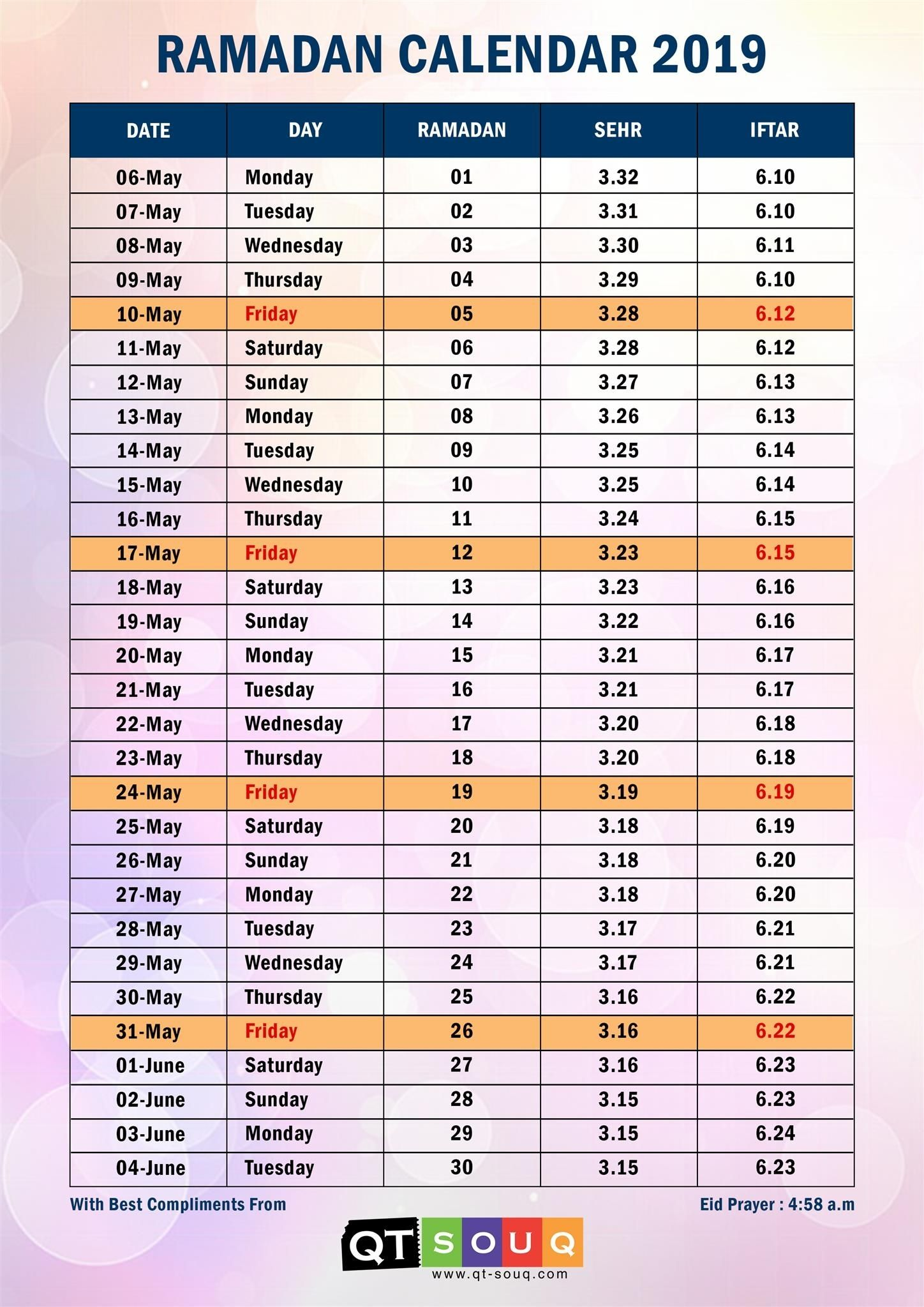 Islamic Calendar For Ramadan For The Future Islamic Calendar Ramadan Personal Calendar