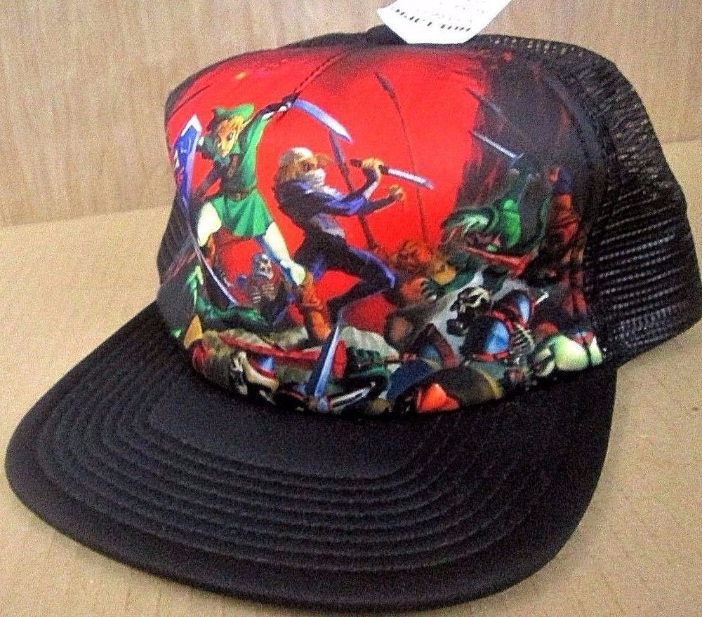 512d9067a91c7 Nintendo LEGENDS OF ZELDA Ocarina of Time Mesh Trucker Snapback Hat Cap NEW  Tags  Nintendo  TruckerHat