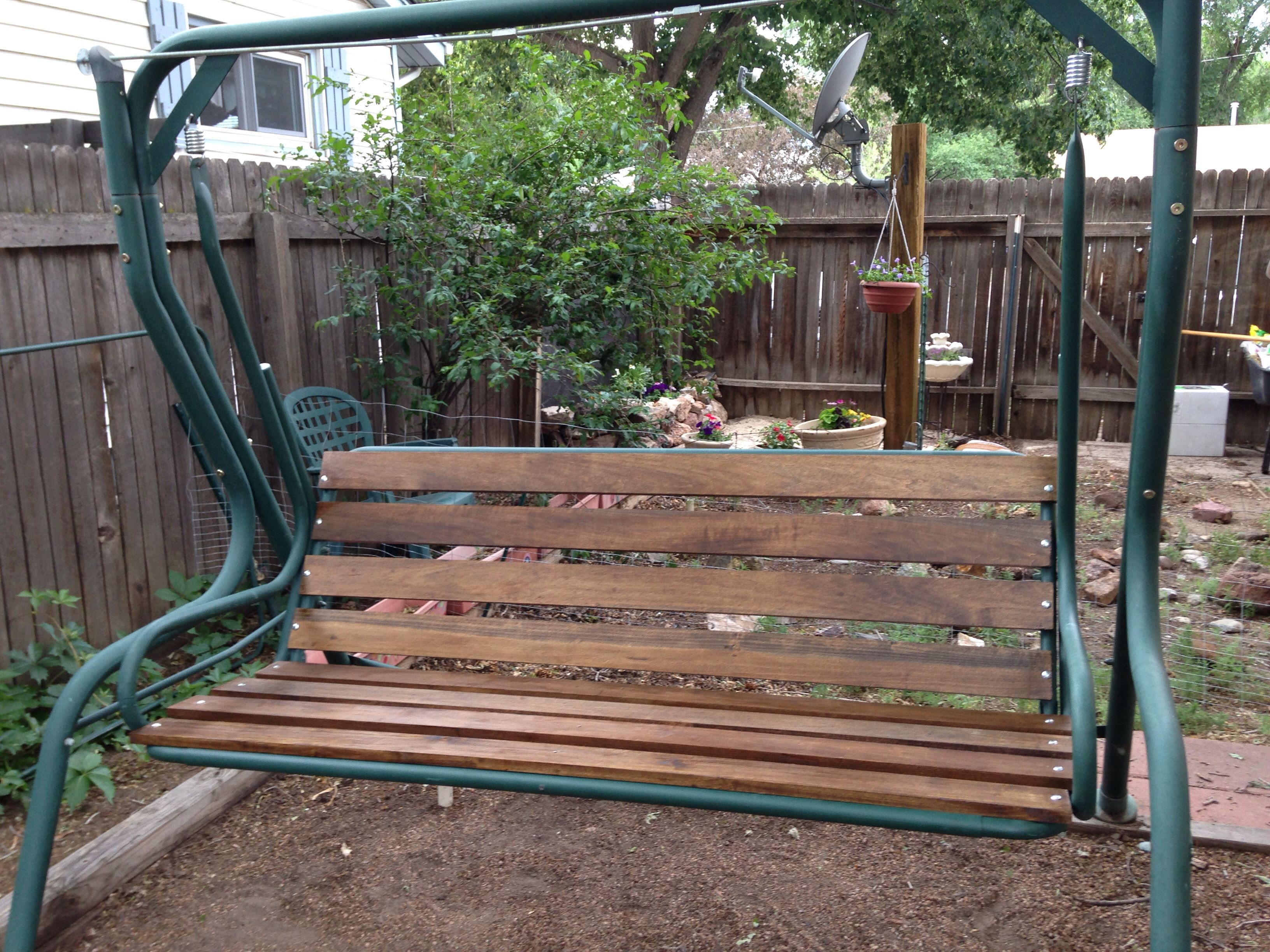 Finished Swing Lawn Garden Seat Patio Chairs Diy
