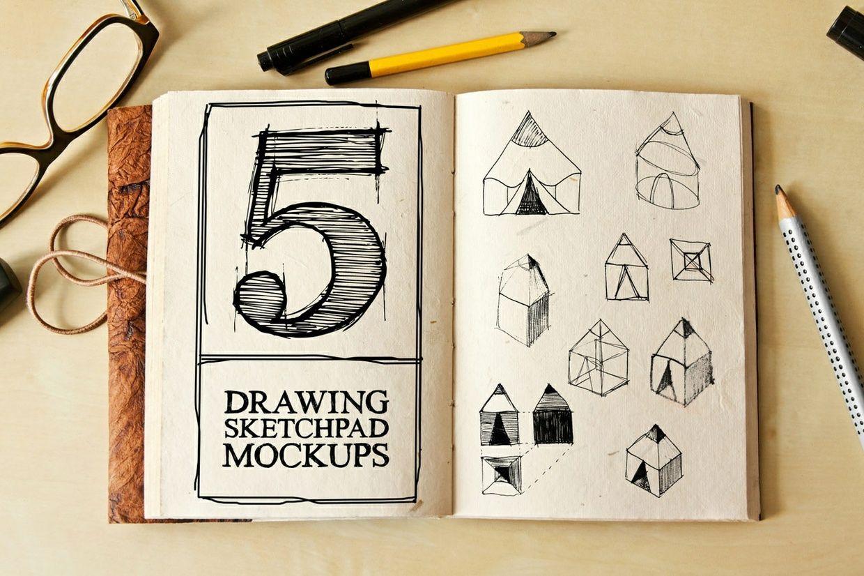 Drawing Sketch Pad Mockups Psd Mockup Template Design Mockup Free Free Psd Mockups Templates
