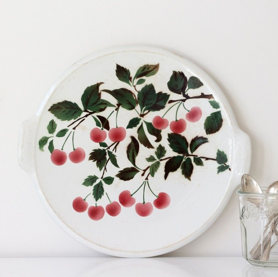French Vintage Serving Plate 도자기