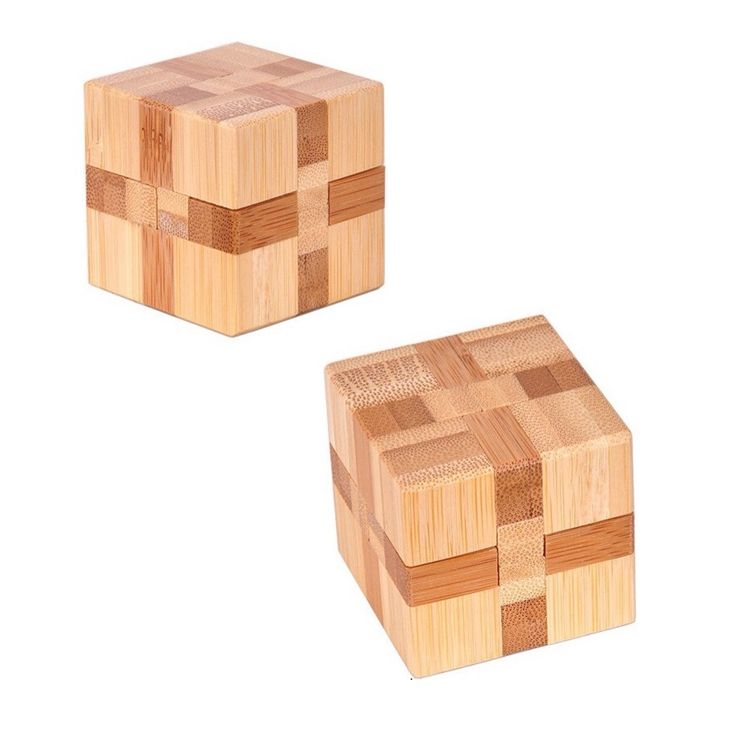 Wooden Intelligence Toys Chinese Brain Teaser Game Toy 3D Puzzle Kong Ming Lock