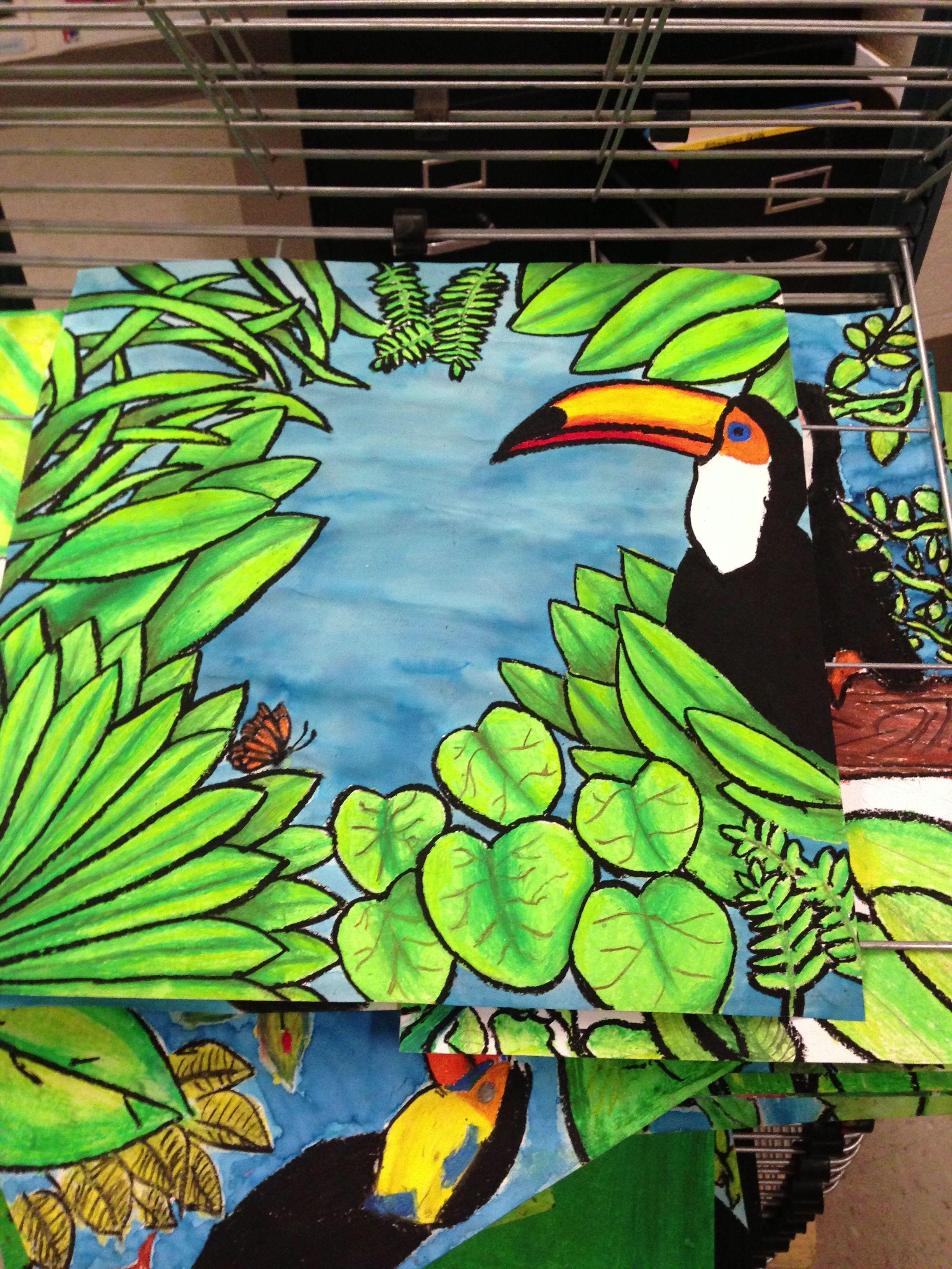 Henri Rousseau Toucan Resist Animal Art Projects Middle School Art Projects Toucan Art