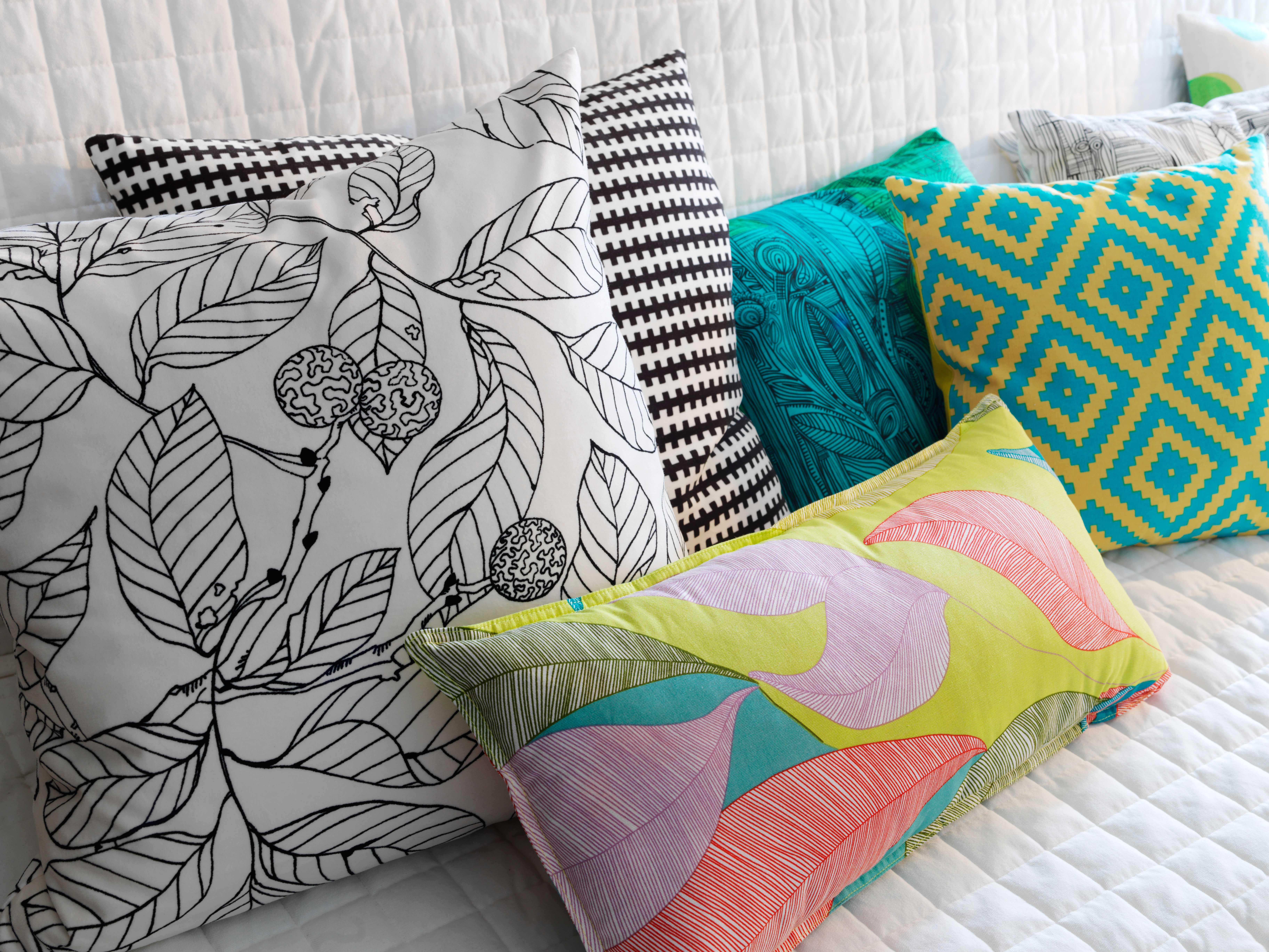 ikea sterreich inspiration textilien kissen malin l v kissen eivor kissen ikea stockholm. Black Bedroom Furniture Sets. Home Design Ideas