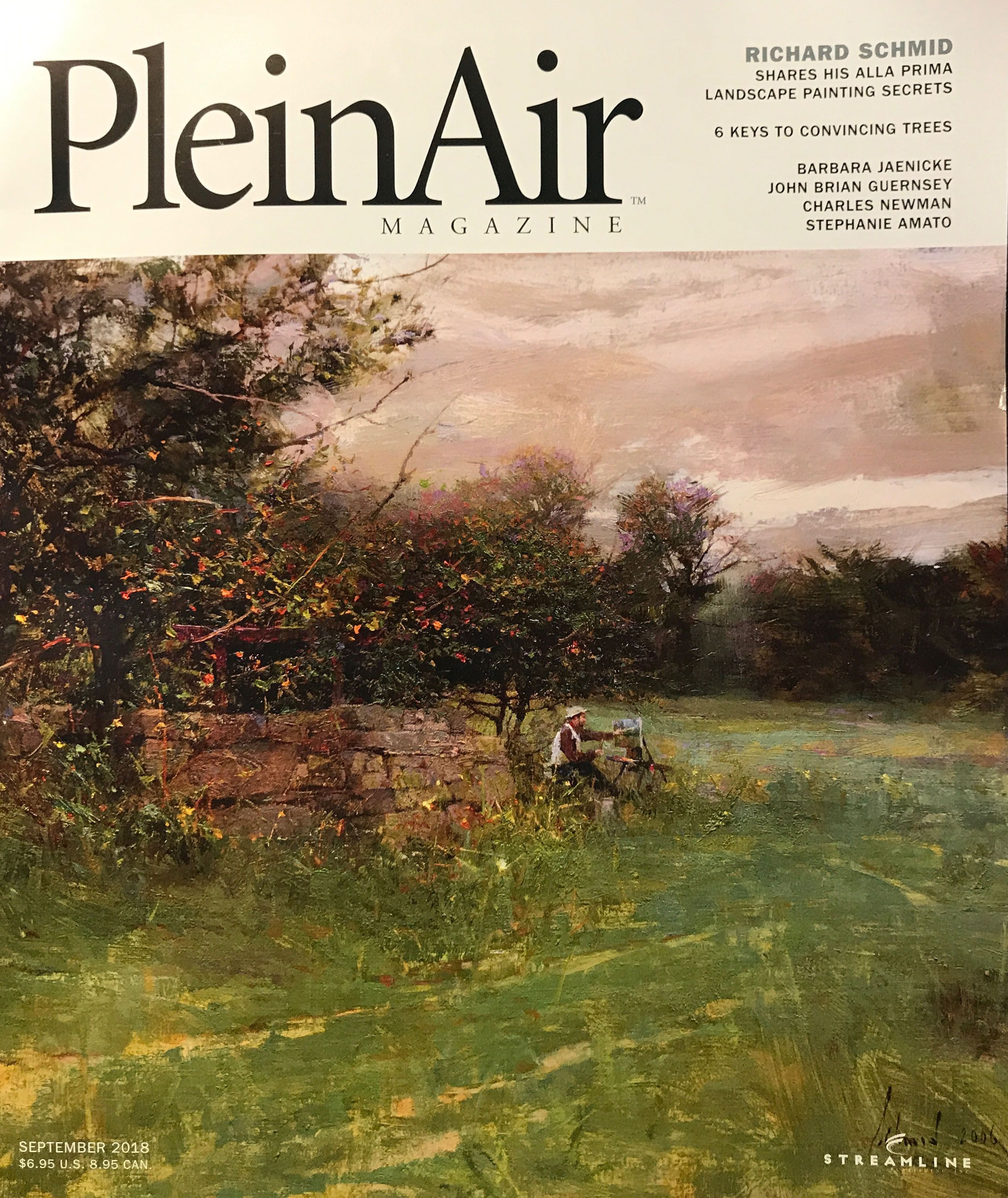 Plein Air magazine Painting demonstrations Private