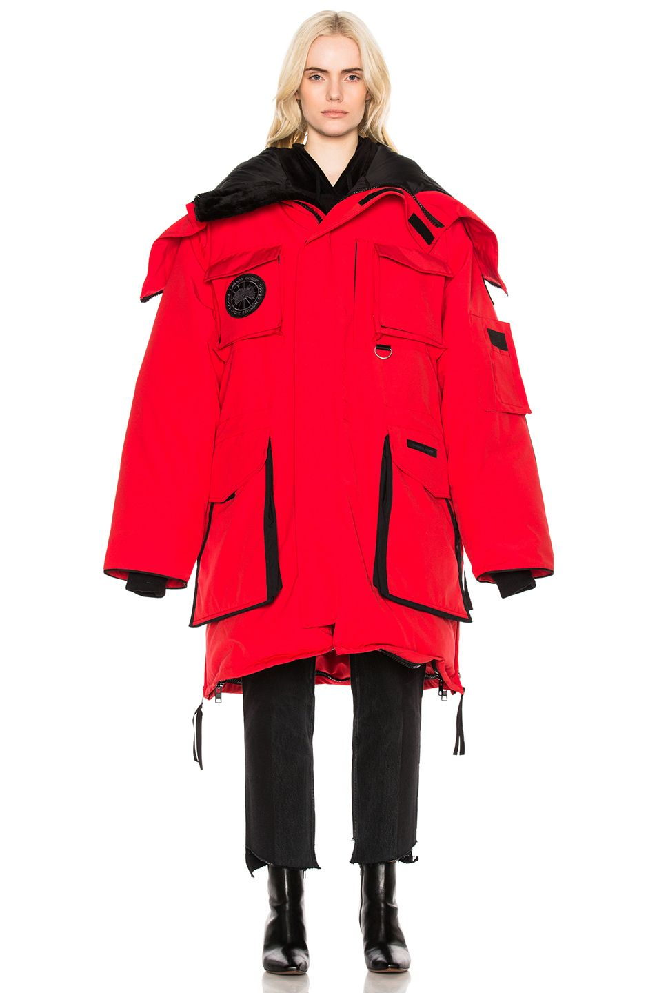 507b38e7127d Image 2 of VETEMENTS x Canada Goose Oversized Fold Up Parka in Red ...
