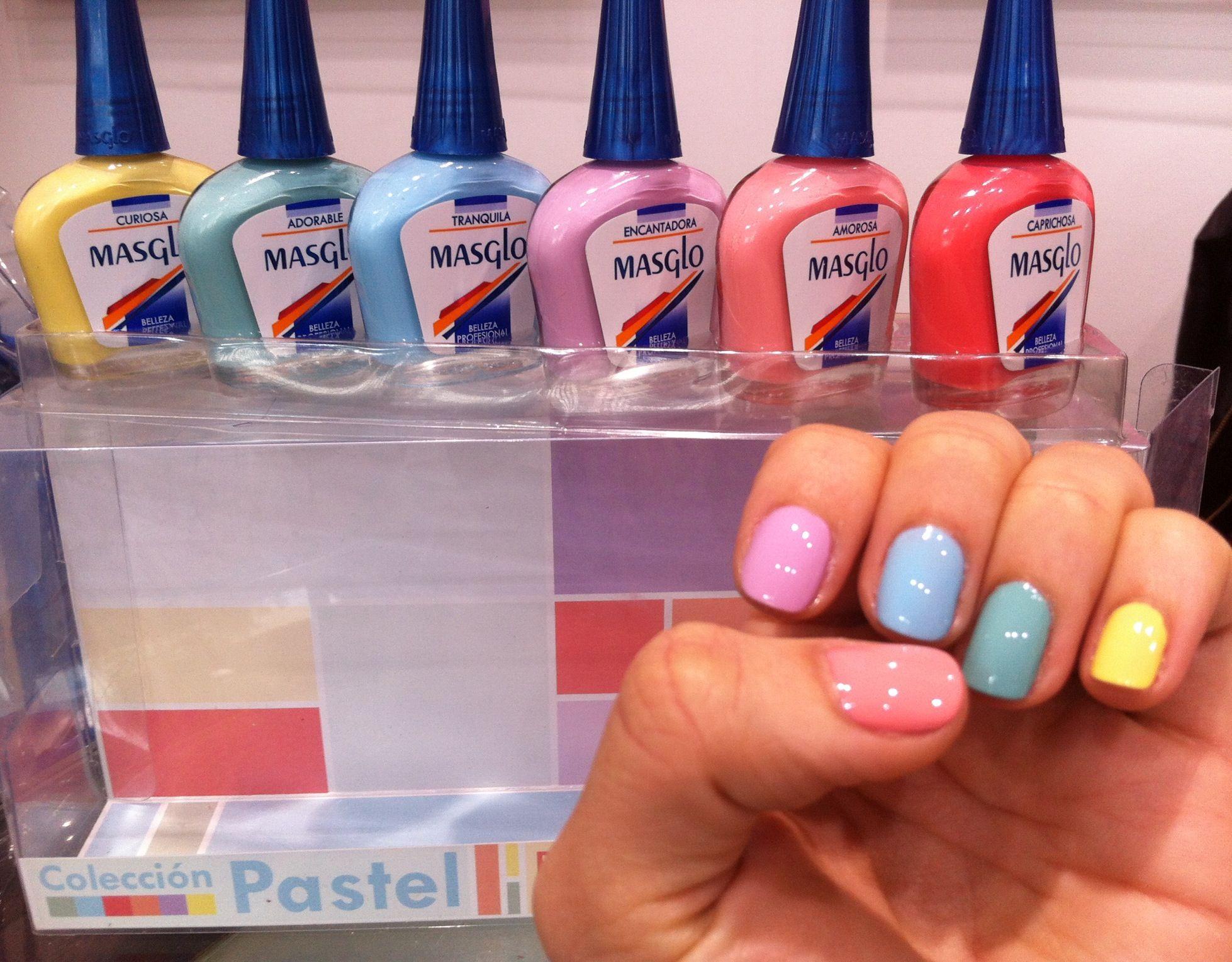 Colección Pastel de Masglo | Nail polish swatches | Pinterest ...