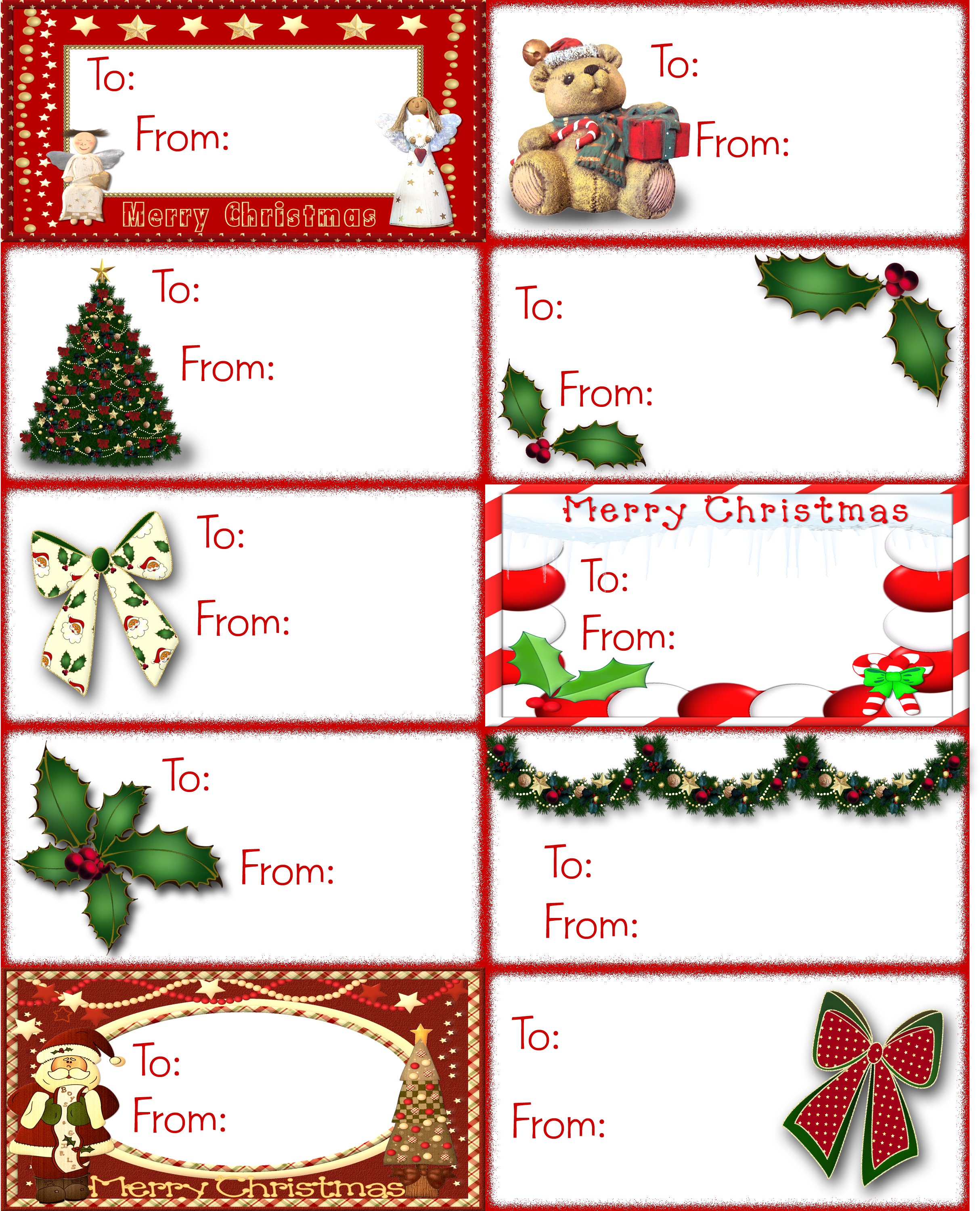 picture about Printable Christmas Tags Template referred to as Track down Lots of Free of charge Clip Artwork Pictures for Valentines Working day Tags