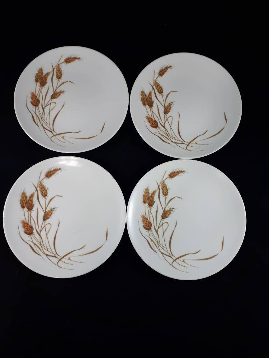 Melmac Wheat Salad Plates Set of 4 Melamine Wheat Dessert Plates Vintage 1950s & Melmac Wheat Salad Plates Set of 4 Melamine Wheat Dessert Plates ...