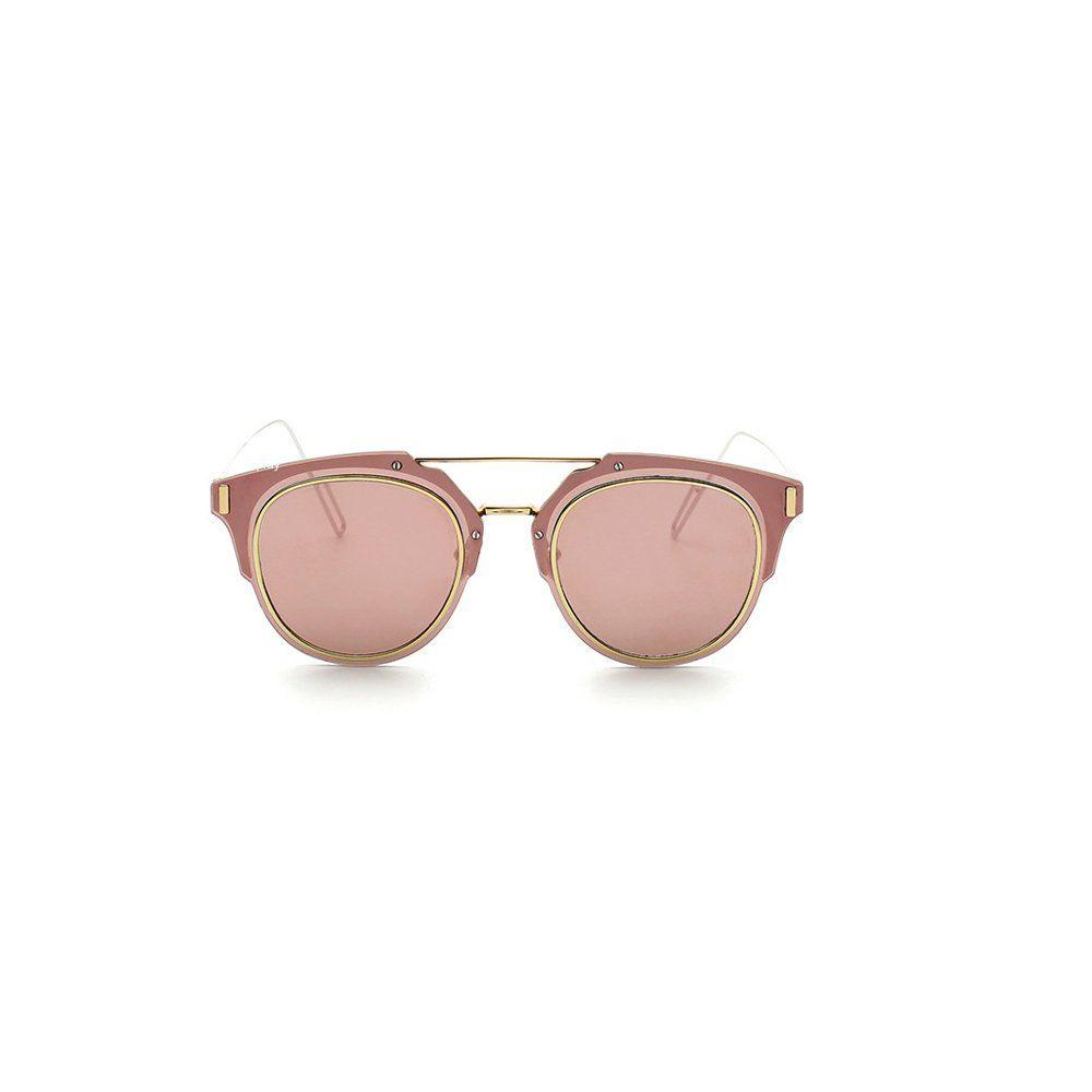 GANT Desginer Vintage Sunglasses Retro Full-rim Metal Frame Round Lens Fashion Style Sliver