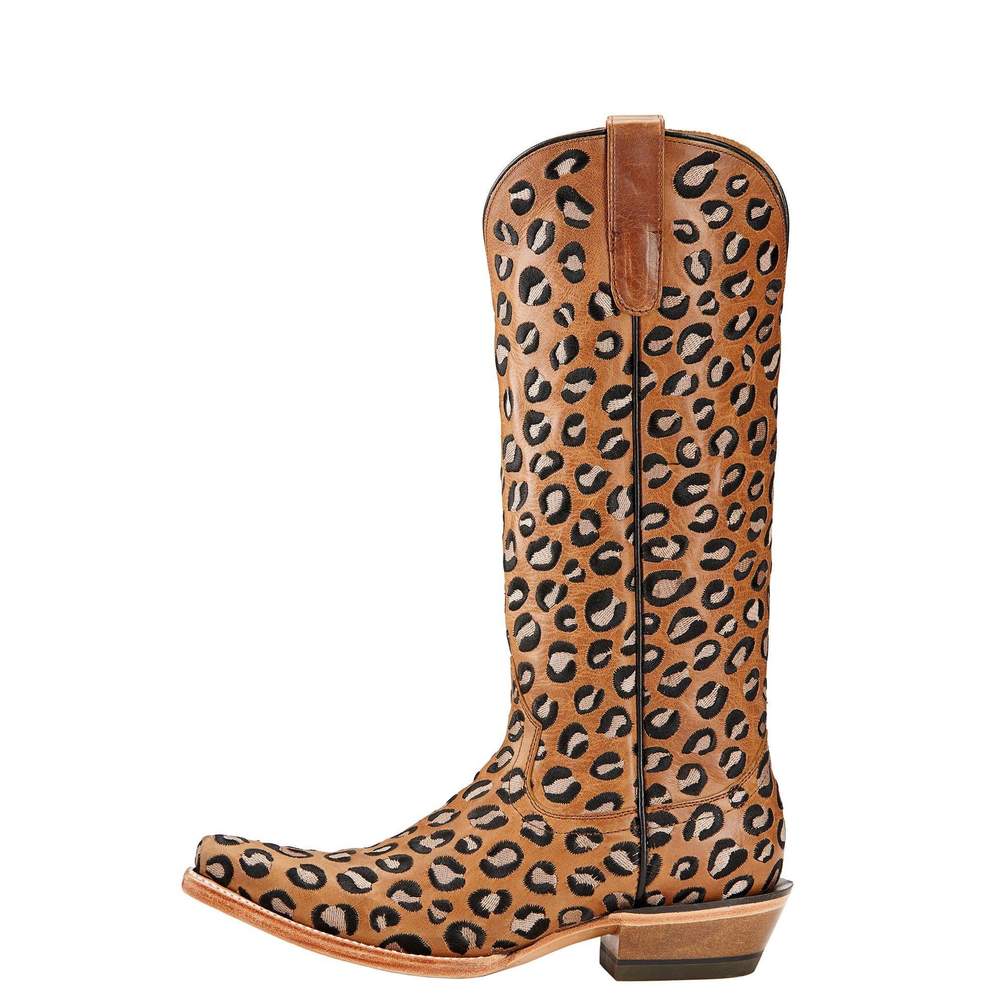 Leopard print cowboy boots!!! We LOVE this wild style. Women's Ariat Wildcat