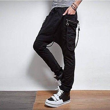 con cintura el/ástica oto/ño para verano invierno Pantalones de deporte para hombre HUAZONG