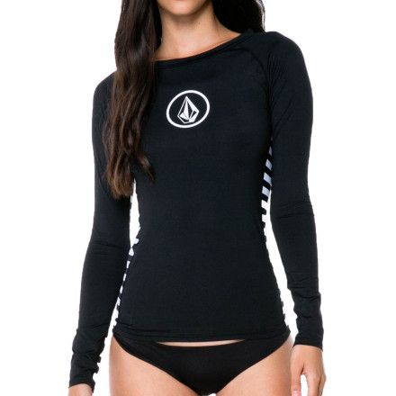 The Simply Solid Long Sleeve Women's Rash Guard from Volcom.