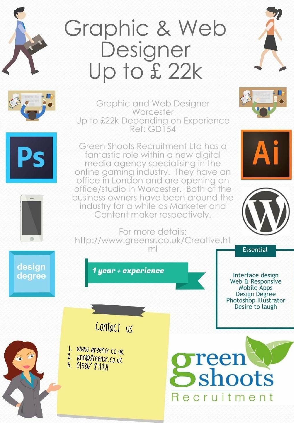 Graphic Web Designer Web Design Digital Jobs Web Design Jobs