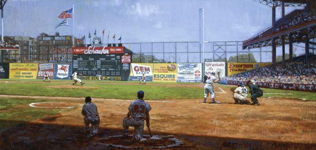 Baseball Paintings Baseball Painting Baseball Park Baseball Stadium