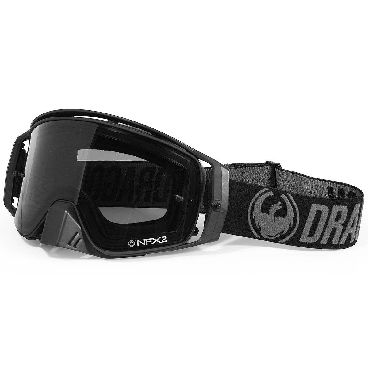 Dragon Nfx2 Black Injected Smoke Goggles At Mxstore Motocross Goggles Black Smoke Dirt Bike Gear