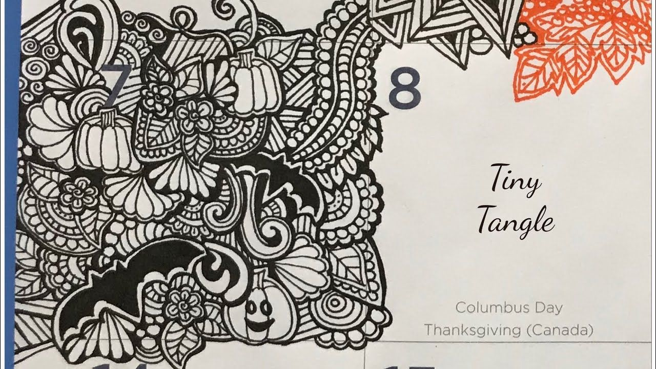 Zendoodling A Tiny Zentangle In My Giant Quigtangle For Inktober Day 7 Youtube Zentangle Inktober Tiny