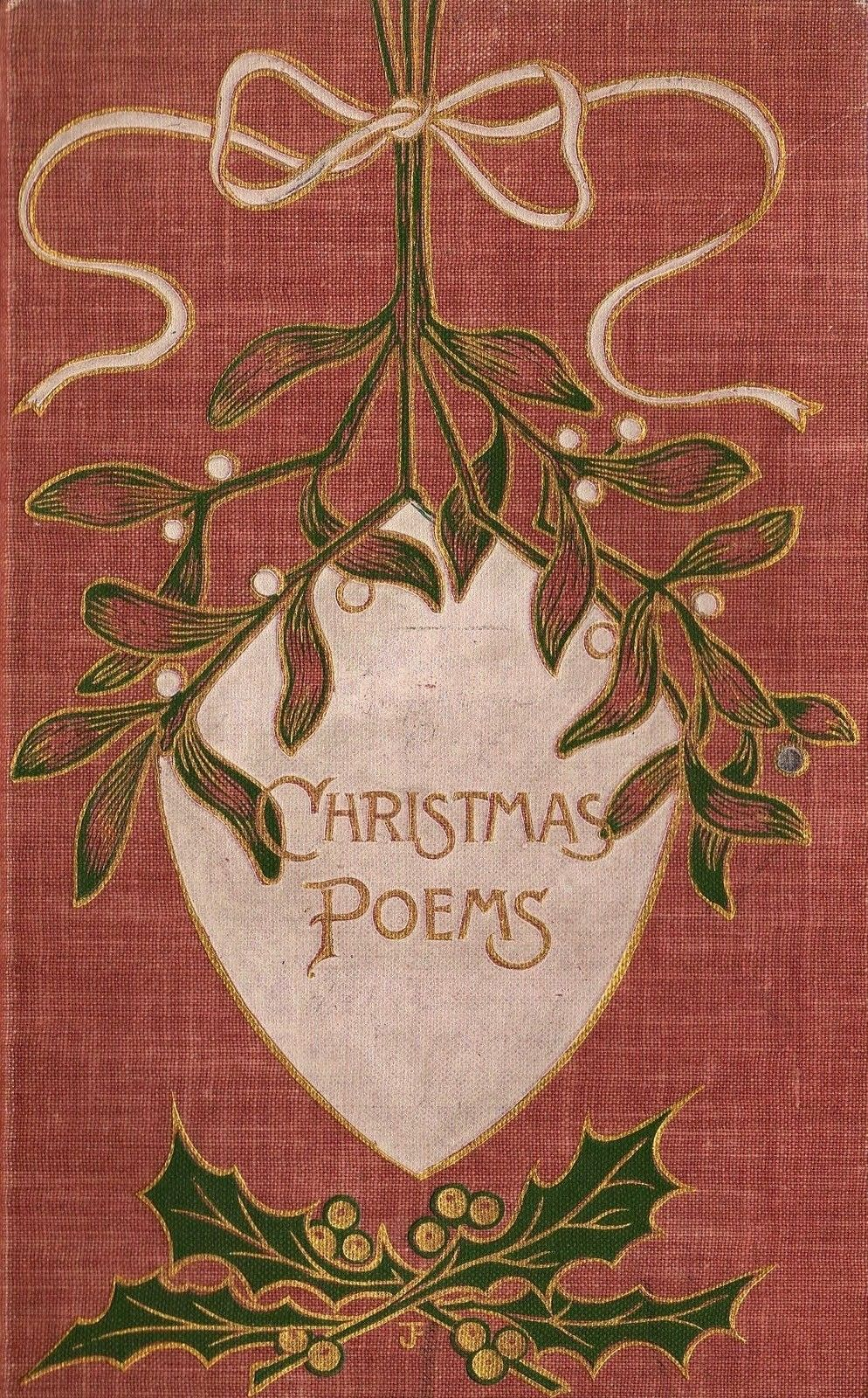 Holiday Vintage Book Christmas Poems Book Cover Design Inspiration Book Cover Design Amazing Book Covers