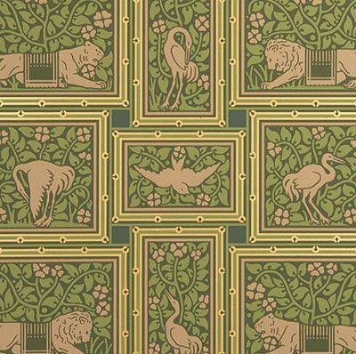 Tiger Crane Geometric Victorian Wallpaper Vintage Wallpaper Patterns Art Wallpaper