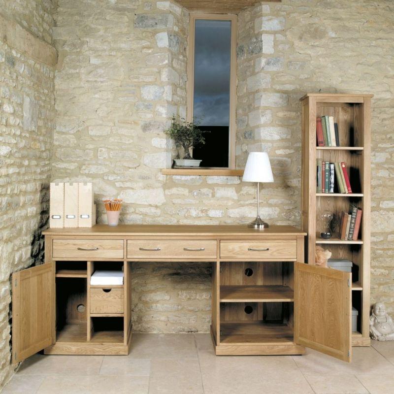 picture mobel oak large hidden office. CFS Mobel Oak Large Hidden Office Twin Pedestal Desk #Desk #OfficeDesk #Oak # Picture