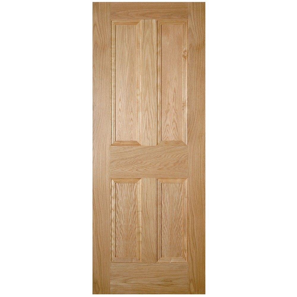 An unfinished internal oak FD30 fire door in a traditional 4 panel design. The Kingston  sc 1 st  Pinterest & Deanta Internal Kingston Oak Veneer 4 Panel FD30 Fire Door ... pezcame.com