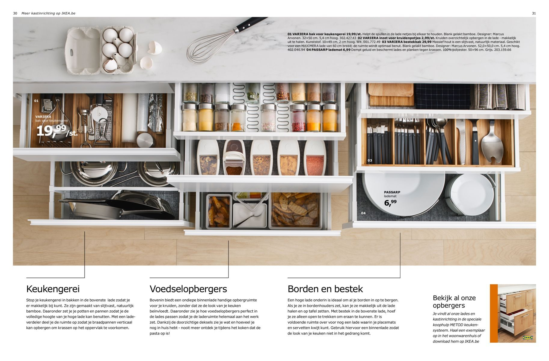 VARIERA Box IKEA Helps you organize things in the drawer. Ideal for ...